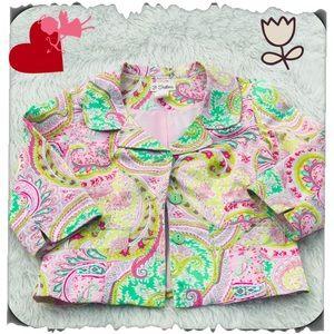 ✔️3 Sisters Paisley Dk Pink,Green,Pale Pink Jacket